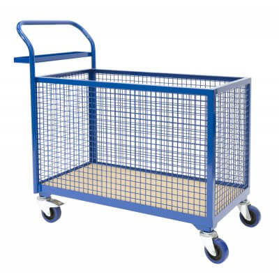 Basket Trolley, Mesh sides and operator shelf