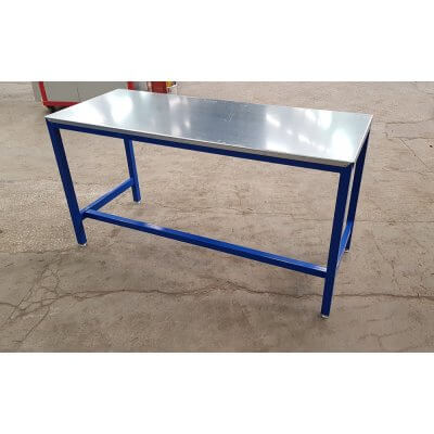Workbench with a blue frame