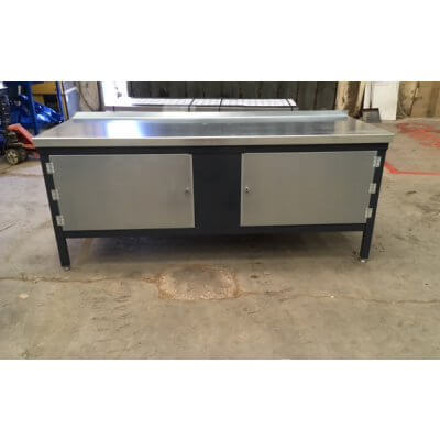 Workbench with 2 large enclosed cupboards