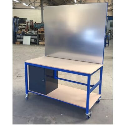 Blue MDF Mobile Packing Bench
