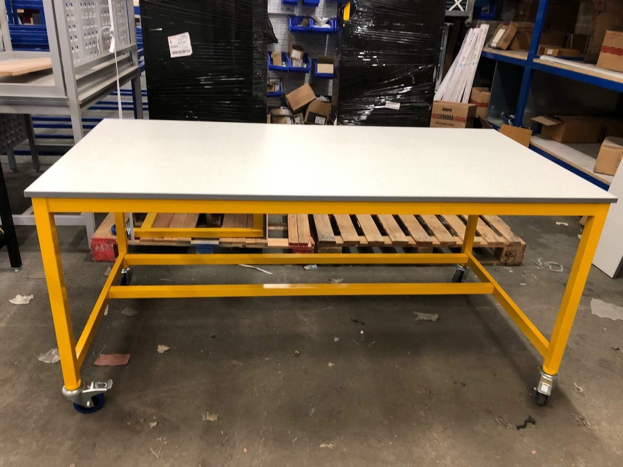 Bargain laminate top workbench