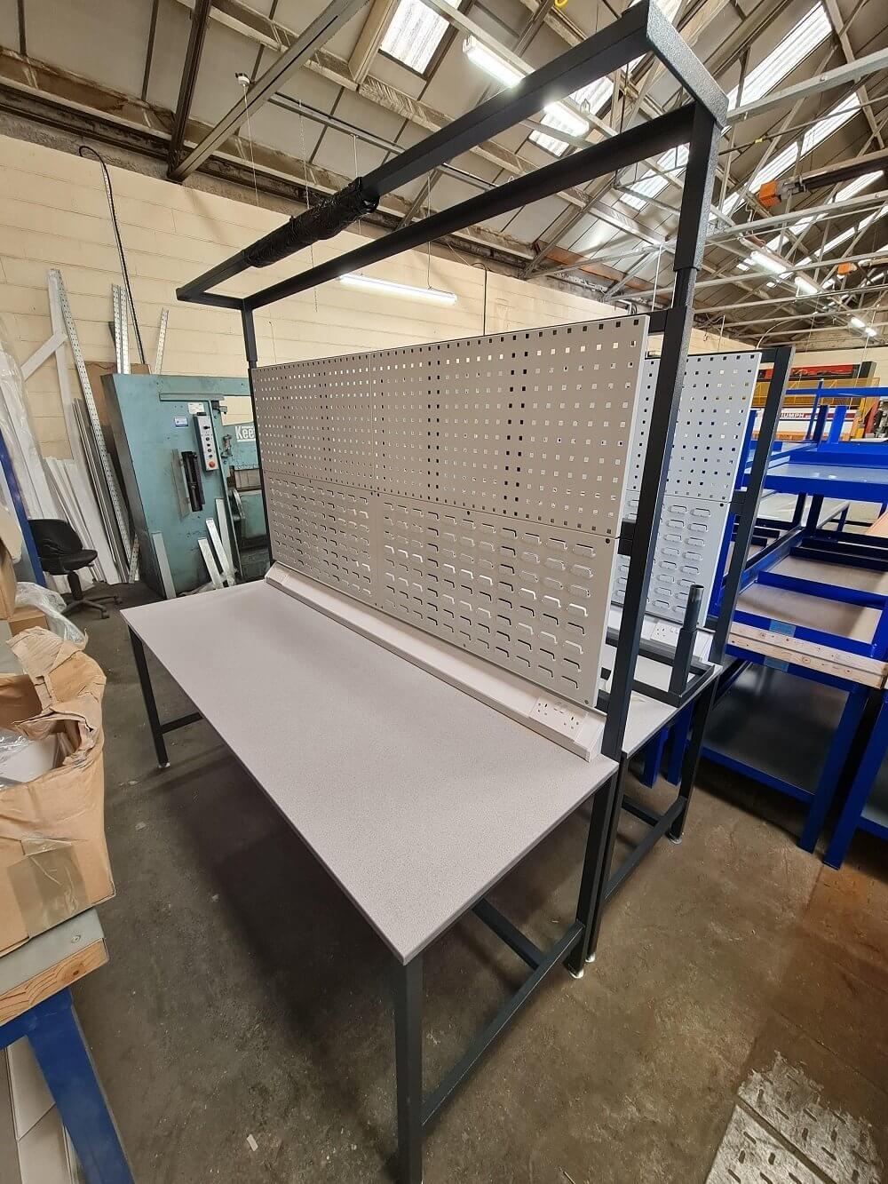 Bargain Steel top workbench