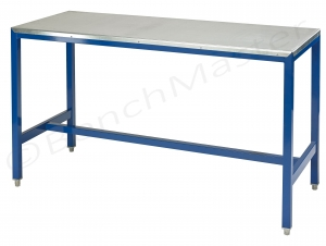 Galvanised steel top medium duty workbench