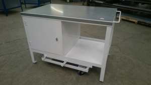 Mobile Workbench with a white frame