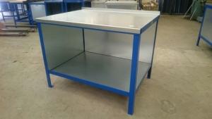 Heavy Duty workbench steel top with side panels