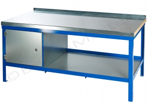 Steel and wood super heavy duty workbench