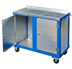 Two door tool trolley