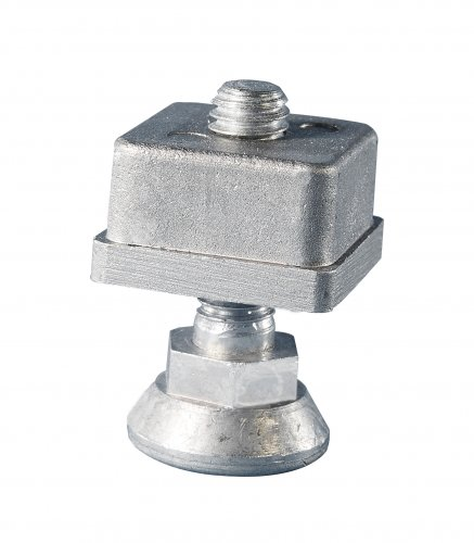 All metal levelling foot